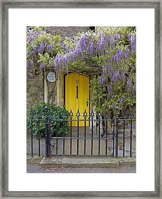 The Old School House Door Framed Print by Gill Billington