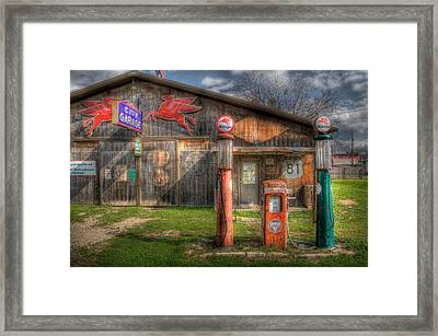The Old Service Station Framed Print by David and Carol Kelly