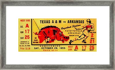 The Old Southwest Conference Framed Print by Benjamin Yeager