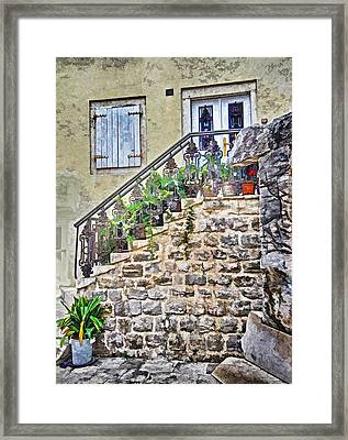 The Old Stairs Framed Print by Richard Dagostino