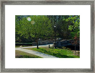 The Old Stone Bridge Framed Print by Bob Fromm