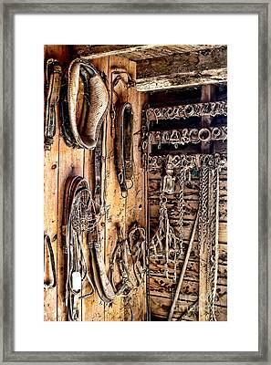 The Old Tack Room Framed Print by Olivier Le Queinec