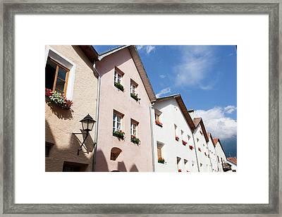 The Old Town Of Glurns (glorenza Framed Print by Martin Zwick