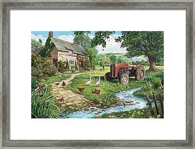 The Old Tractor Framed Print by Steve Crisp