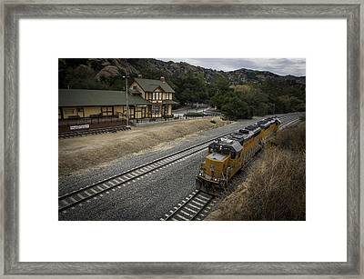 The Old Train Depot  Framed Print by Lynn Bauer