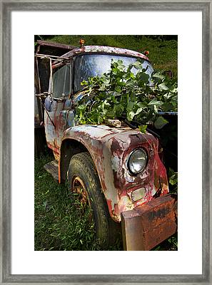 The Old Truck Framed Print by Debra and Dave Vanderlaan