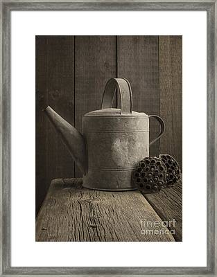 The Old Watering Can Framed Print by Edward Fielding