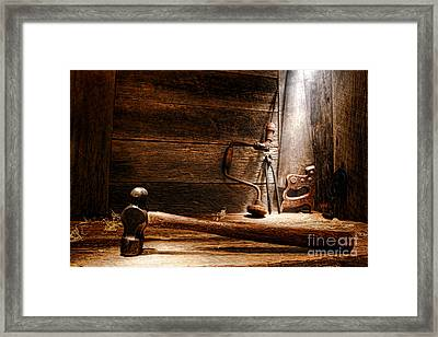 The Old Workshop Framed Print by Olivier Le Queinec