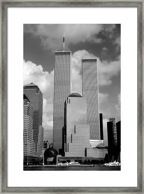 The Old Wtc Framed Print by Joann Vitali