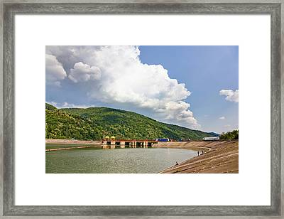 The Olt Gorge Through The Carpathian Framed Print by Martin Zwick