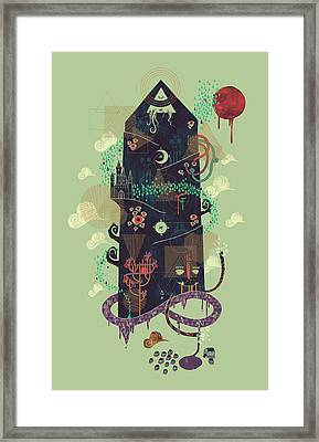 The Ominous And Ghastly Mont Noir Framed Print by Hector Mansilla