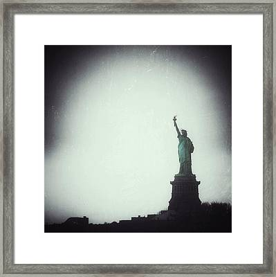 The Only Credential The City Asks For Is The Boldness To Dream Framed Print by Natasha Marco
