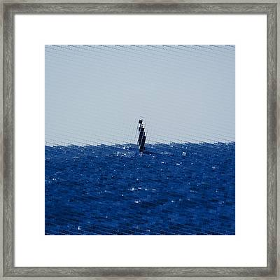 The Open Sea Framed Print by Toppart Sweden