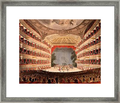The Opera House, London Framed Print by T. & Pugin, A.C. Rowlandson