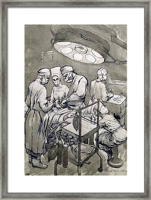 The Operation Theatre, 1966 Framed Print by Osmund Caine