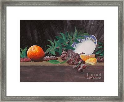The Orange Bowl Framed Print by Louise Williams