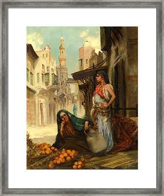 The Orange Seller Framed Print by Fabbio Fabbi