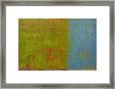 The Orange Wedge Framed Print by Michelle Calkins