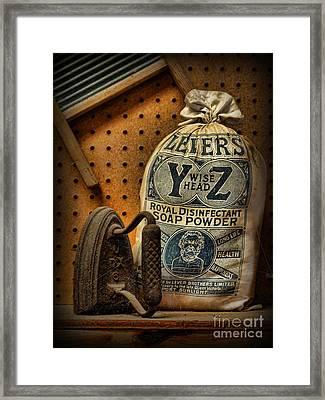 The Original Laundromat - Self-service Soap Powder Framed Print by Lee Dos Santos