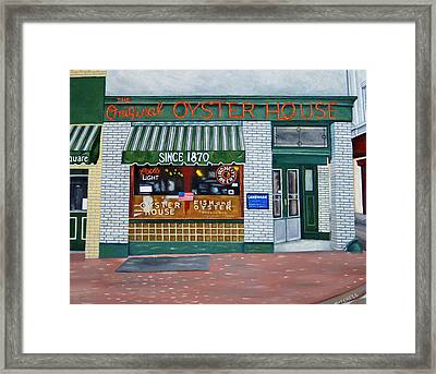 The Original Oyster House Framed Print by Ellen Mitchell