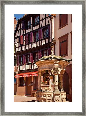 The Ornate Alter Brunnen In Obernai Framed Print by Brian Jannsen