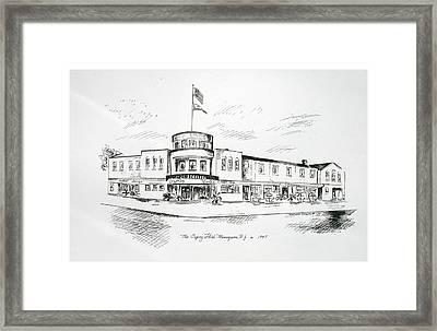 The Osprey In Manasquan Nj Framed Print by Melinda Saminski