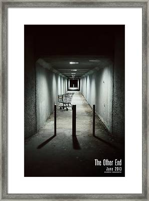 Shopping Cart Framed Print featuring the digital art The Other End by Jeff Bell