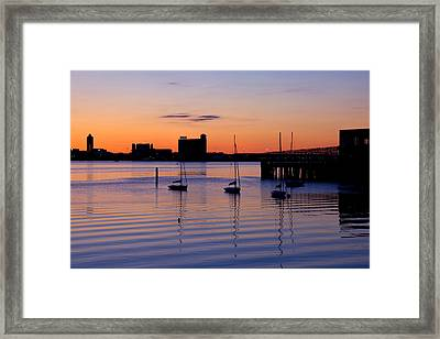 The Other Side Of The Harbor Framed Print by Joann Vitali