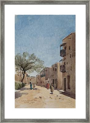 The Ouled Nail Quarter, Biskra, April 1889  Framed Print by Henri Duhem