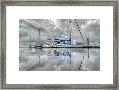 The Outer Pier Framed Print by John Adams