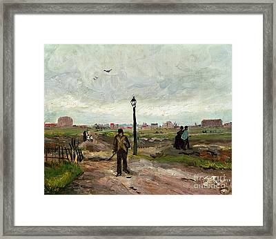 The Outskirts Of Paris Framed Print by Vincent van Gogh