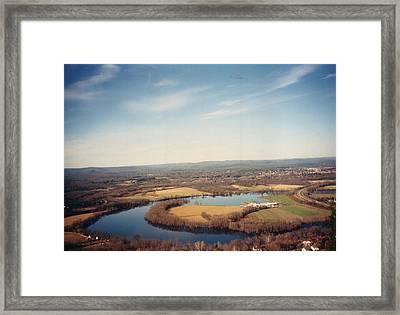 The Oxbow Framed Print by David Fiske