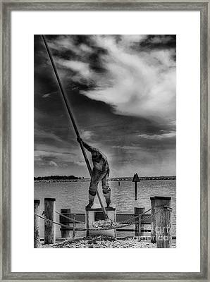 The Oysterman Framed Print by Skip Willits