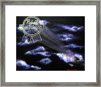 The Pabst Signal Framed Print by J Kae Good Bear