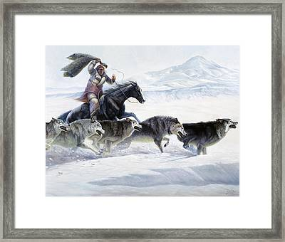 The Pack Framed Print by Gregory Perillo