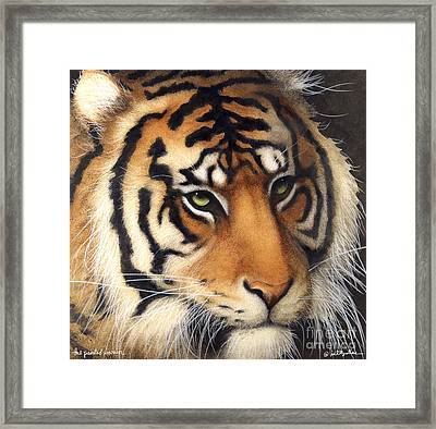 The Painted Warrior... Framed Print by Will Bullas