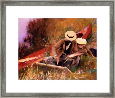 The Painter And His Love - Dedication Framed Print by Georgiana Romanovna