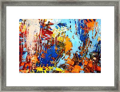 The Painting Has A Life Of Its Own. I Try To Let It Come Through. Jackson Pollock   Framed Print by John  Nolan