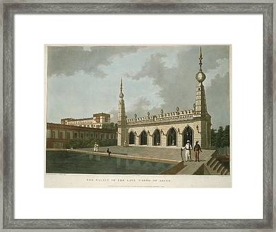 The Palace Of The Late Narob Of Arcot Framed Print by British Library