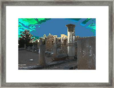 The Palaestra -temple Of Apollo Framed Print by Augusta Stylianou