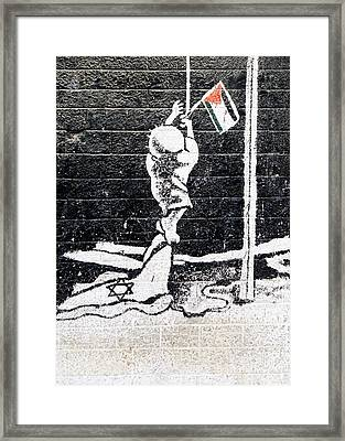 The Palestinian Flag Framed Print by Munir Alawi