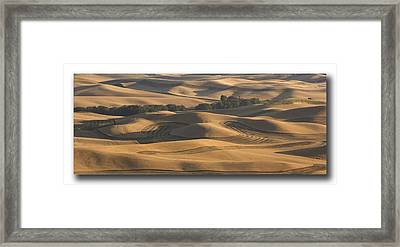 Harvest Hills Framed Print by Latah Trail Foundation