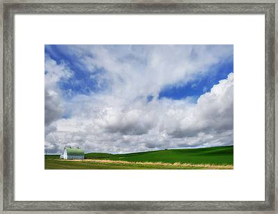 The Palouse Stripe Framed Print by Ryan Manuel