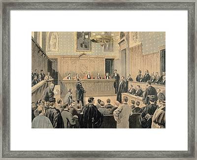 The Panama Trial, From Le Petit Journal, Engraved By Fortune Louis Meaulle 1844-1901 2nd January Framed Print by Oswaldo Tofani
