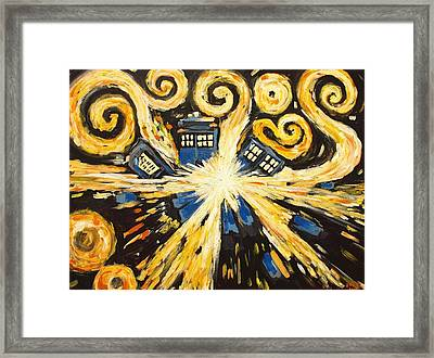 The Pandorica Opens Framed Print by Sheep McTavish