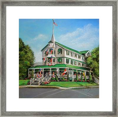 The Parker House Framed Print by Melinda Saminski