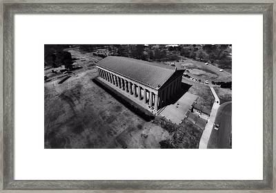 The Parthenon In Black And White Framed Print by Dan Sproul