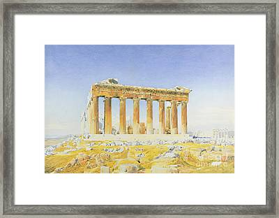 The Parthenon Framed Print by Thomas Hartley Cromek