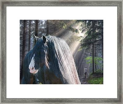 The Parting Of Two Earthly Souls Framed Print by Terry Kirkland Cook