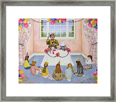 The Party Framed Print by Ditz